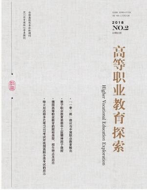 高等职业教育探索杂志2018年01期投稿论文目录查询